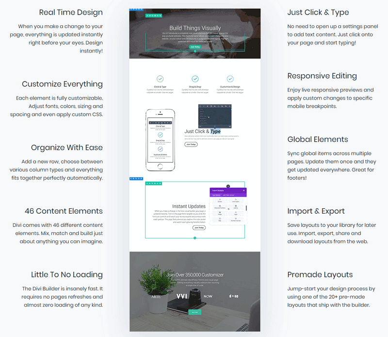 Other features from ElegantThemes